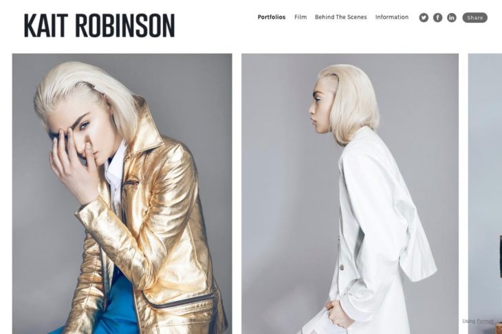 web design for a photographer: kait robinson