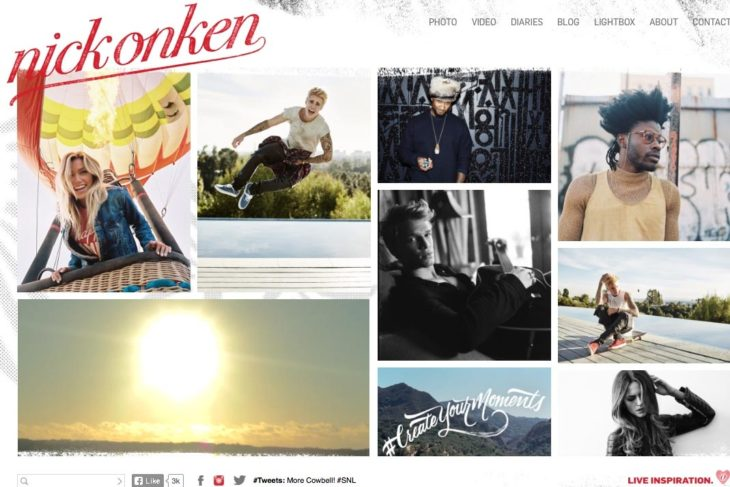 web design for a photographer: nick onken