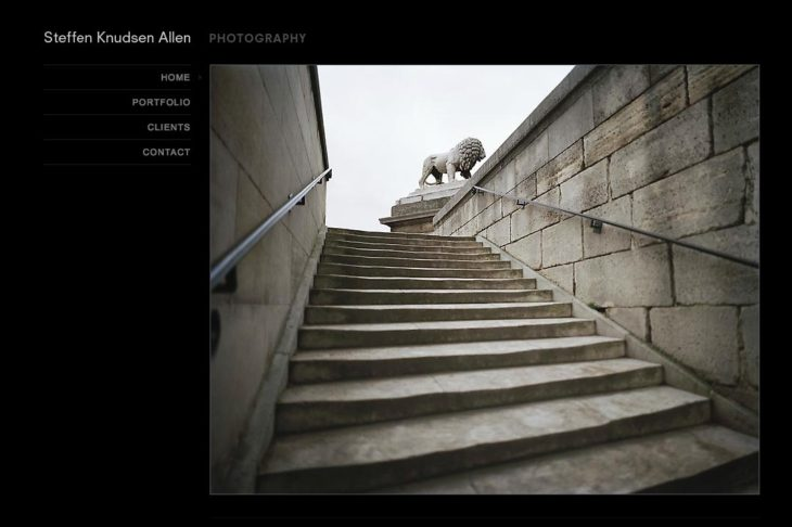 web design for a photographer: steffen knudsen allen