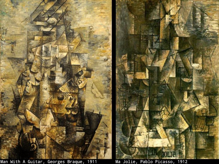 Georges Braque's painting juxtaposed with Picasso's Ma Jolie