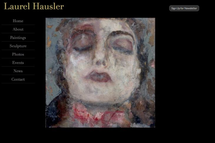 web design for an artist: laurel hausler